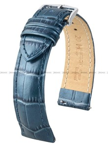 Pasek skórzany do zegarka - Hirsch Duke Metallic 01027180-2-20 - 20 mm - M