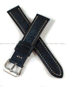 Pasek skórzany ręcznie robiony A. Kucharski Leather - Badalassi Carlo Pueblo RawEdge - navy/camel 20 mm