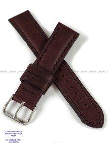 Pasek skórzany ręcznie robiony A. Kucharski Leather - Conceria Puccini Uragano - burgundy/black 32 mm