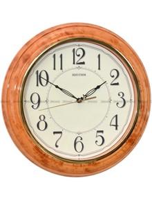 Zegar ścienny Rhythm CMG425BR06 z luminescencyjną tarczą