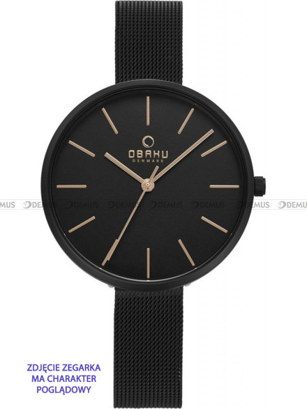 Bransoleta do zegarków Obaku V211L - V211LXBBMB - 12 mm