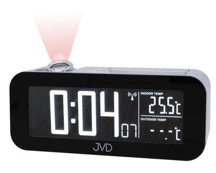 Budzik cyfrowy z projektorem i termometrem JVD RB93
