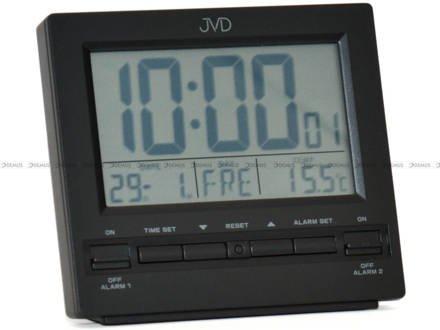 Budzik cyfrowy z termometrem, sterowany radiowo JVD RB9371.2