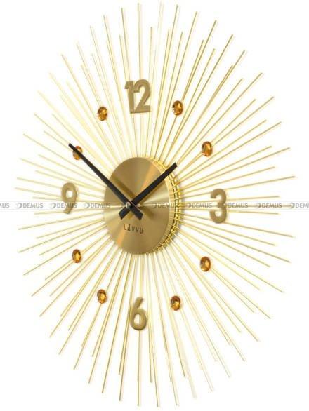 Duzy zegar ścienny z kryształkami LAVVU LCT1142 - 49 cm