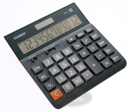 Kalkulator biurowy Casio DH-12BK-S