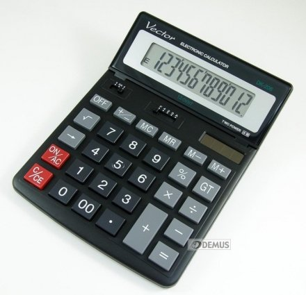 Kalkulator biurowy Vector DK-206