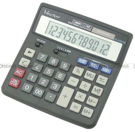 Kalkulator biurowy Vector DK-209DM BLK