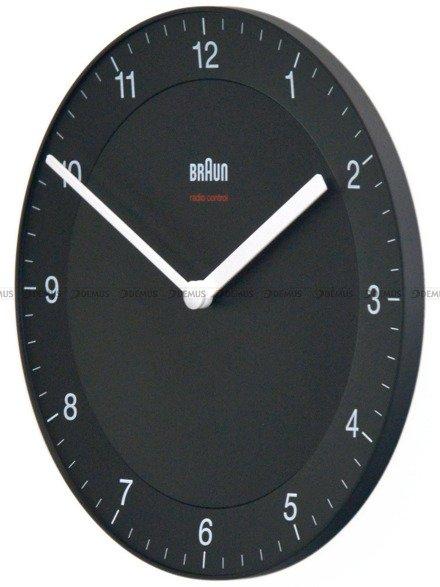 Mały zegar ścienny Braun BC06B-DCF - sterowany radiowo