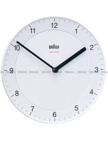 Mały zegar ścienny Braun BC06W-DCF - sterowany radiowo