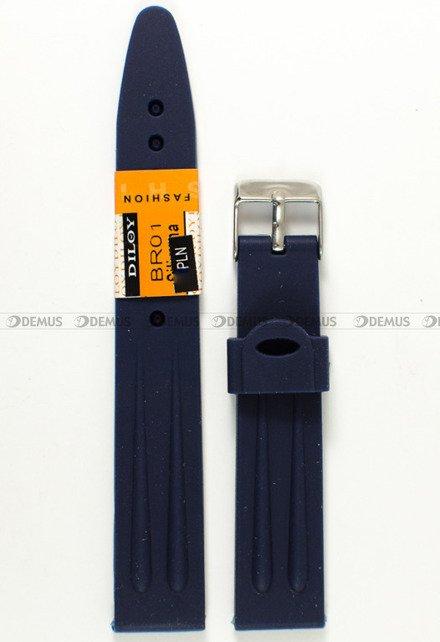 Pasek do zegarka - Diloy BR01.18.5 - 18 mm