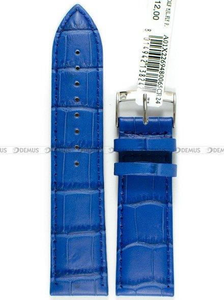 Pasek do zegarka skórzany - Morellato A01X2269480065 24 mm