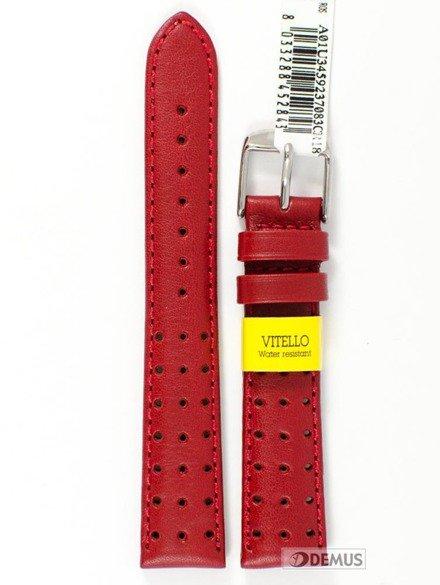 Pasek do zegarka skórzany wodoodporny - Morellato A01U3459237083 18 mm