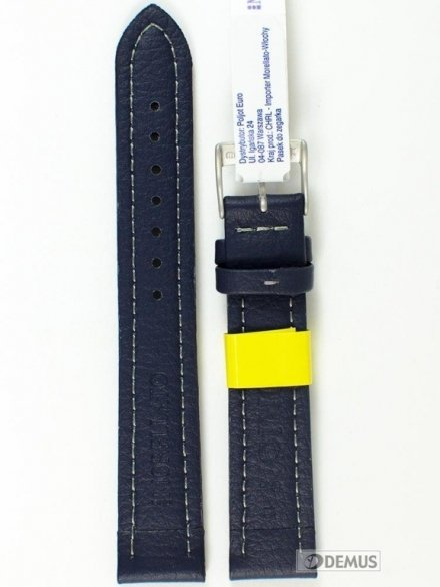 Pasek do zegarka wodoodporny skórzany - Morellato A01U2195432062 18mm