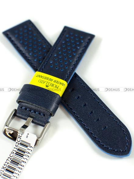 Pasek do zegarka wodoodporny skórzany - Morellato A01X5272C91162CR22 - 22 mm