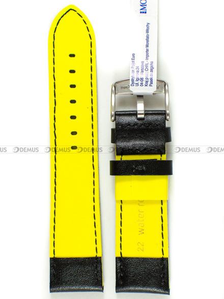 Pasek do zegarka wodoodporny skórzany - Morellato A01X5272C91197CR22 - 22 mm
