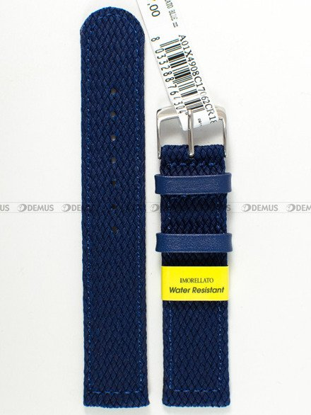 Pasek materiałowy wodoodporny do zegarka - Morellato A01X4908C17062CR18 - 18 mm