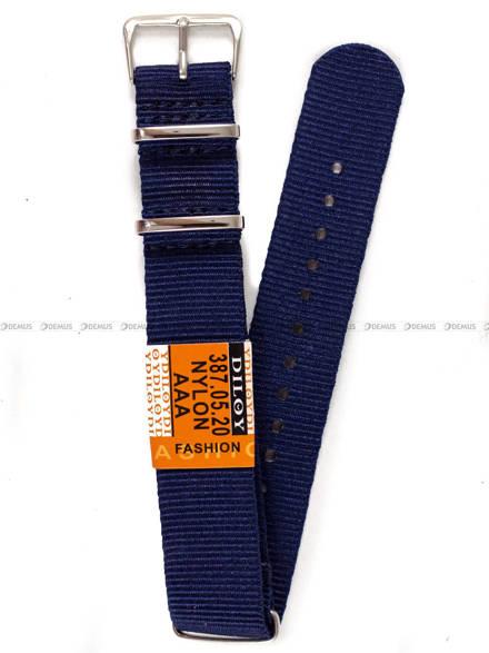 Pasek nylonowy do zegarka - Diloy 387.20.5 - 20mm