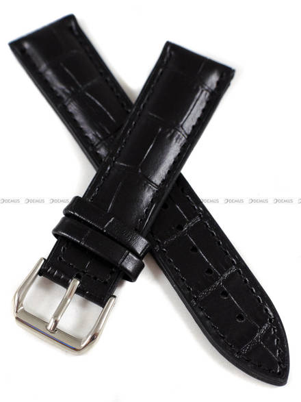 Pasek silikonowo-skórzany do zegarka - Tekla PT71.20.1.1 - 20 mm