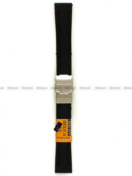 Pasek silikonowy Diloy do zegarka - SBR36.18.1 - 18 mm