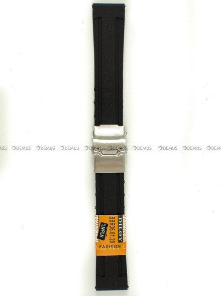 Pasek silikonowy Diloy do zegarka - SBR36.20.1 - 20 mm