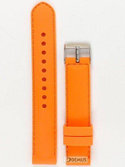 Pasek silikonowy do zegarka - Chermond PG1.18.5.5 - 18 mm