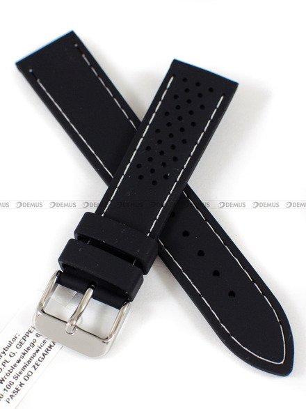 Pasek silikonowy do zegarka - Horido 0015.01W.20S - 20 mm