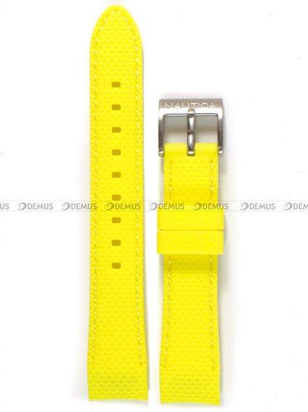 Pasek silikonowy do zegarka Nautica NAI11500M - 18 mm