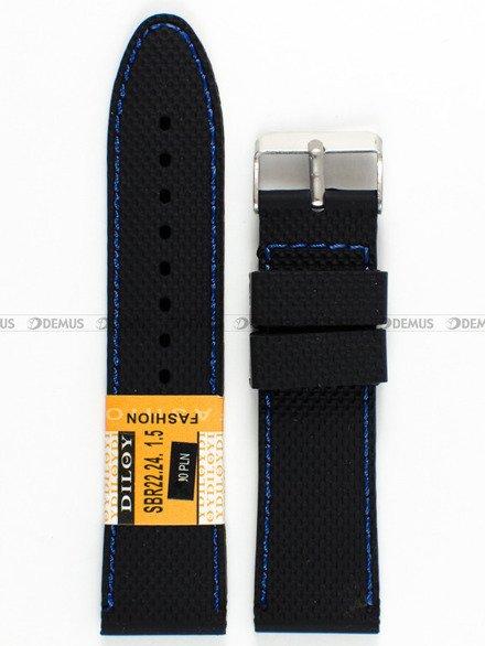 Pasek silikonowy do zegarka - SBR22.24.1.5 - 24 mm