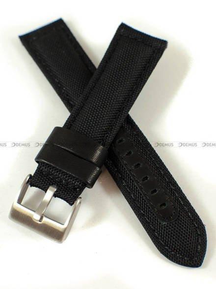 Pasek skórzano-nylonowy do zegarka - Pacific W34.22.1.1 - 22 mm