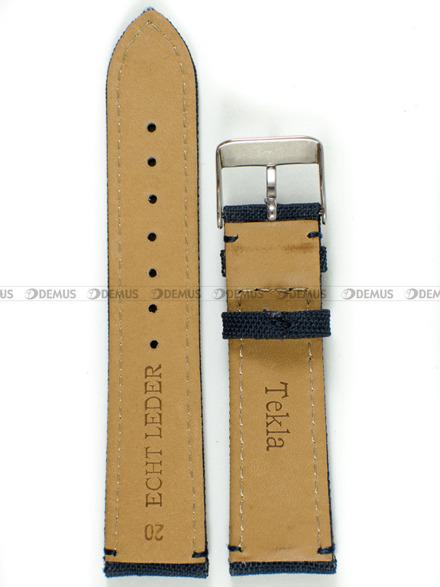 Pasek skórzano-nylonowy do zegarka - Tekla PSN1.20.5.5 - 20 mm