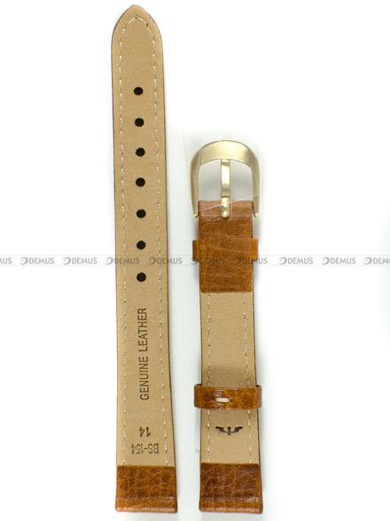 Pasek skórzany do zegarka Bisset - BS-154 - 14 mm