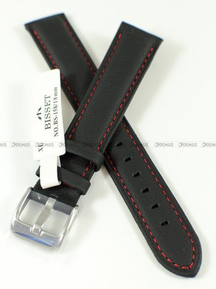 Pasek skórzany do zegarka Bisset - BS-158 - 18 mm - XL