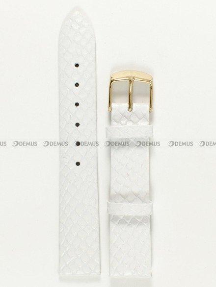 Pasek skórzany do zegarka Bisset BSAD50 - ABP/D81-White - 18 mm