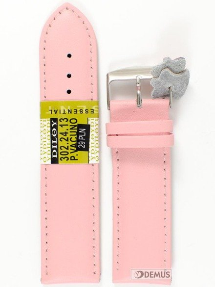 Pasek skórzany do zegarka - Diloy 302.24.13 - 24mm