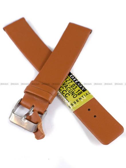 Pasek skórzany do zegarka - Diloy 327.18.3 - 18mm