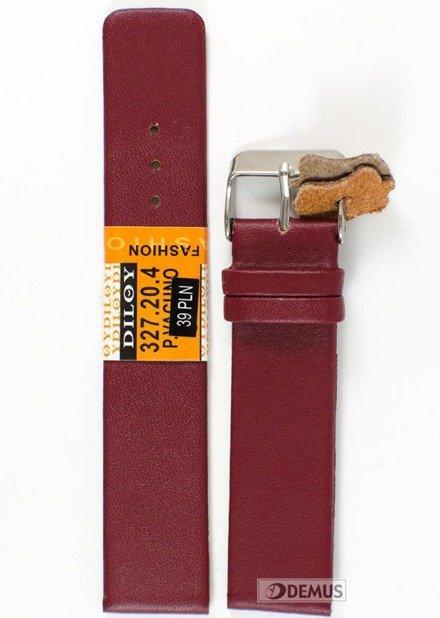 Pasek skórzany do zegarka - Diloy 327.20.4 - 20mm