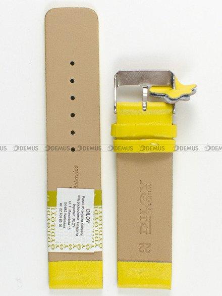 Pasek skórzany do zegarka - Diloy 327.22.10 - 22 mm