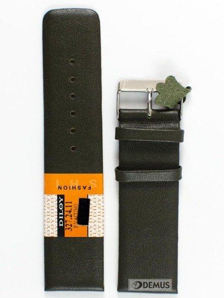 Pasek skórzany do zegarka - Diloy 327.24.11 - 24mm