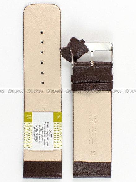 Pasek skórzany do zegarka - Diloy 327.26.2 - 26mm