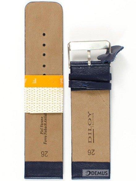 Pasek skórzany do zegarka - Diloy 327.26.5 - 26mm
