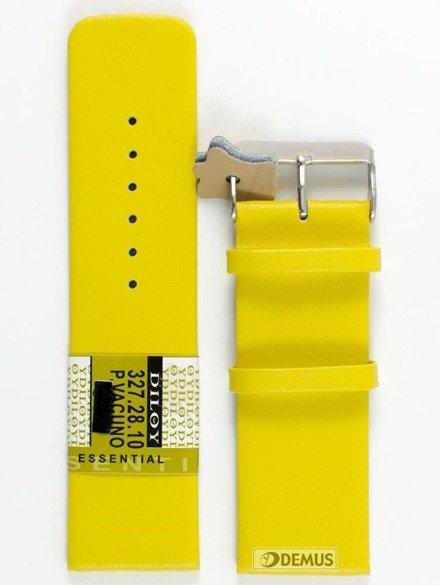 Pasek skórzany do zegarka - Diloy 327.28.10 - 28 mm