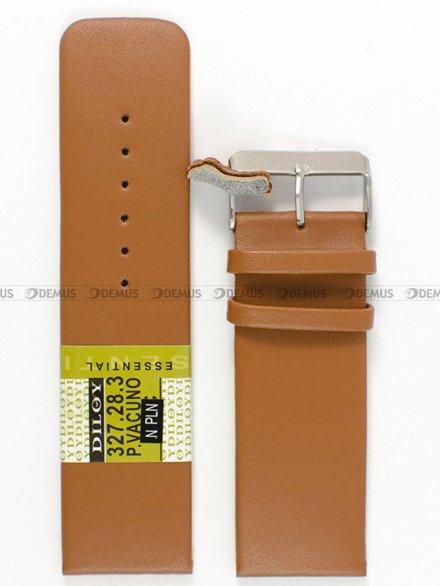 Pasek skórzany do zegarka - Diloy 327.28.3 28mm