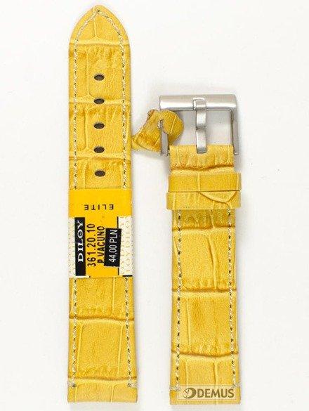Pasek skórzany do zegarka - Diloy 361.20.10 - 20mm