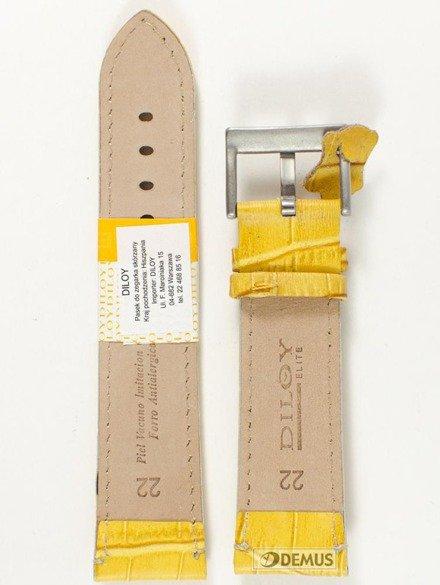 Pasek skórzany do zegarka - Diloy 361.22.10 - 22mm