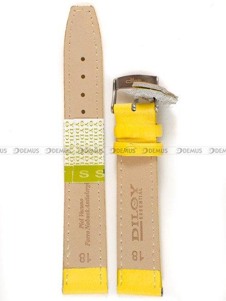 Pasek skórzany do zegarka - Diloy 366.18.10 v2 - 18 mm
