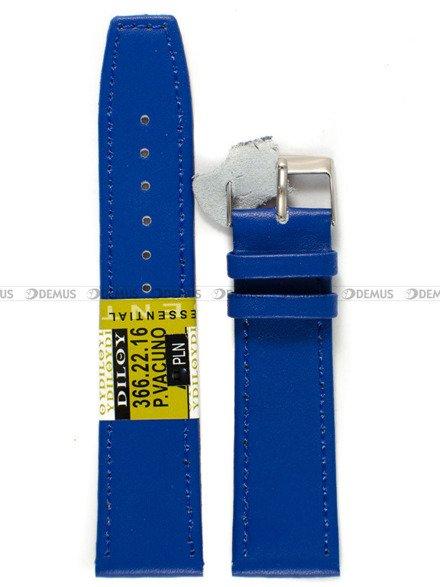 Pasek skórzany do zegarka - Diloy 366.22.16 - 22 mm