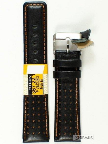 Pasek skórzany do zegarka - Diloy 367.22.1 - 22mm