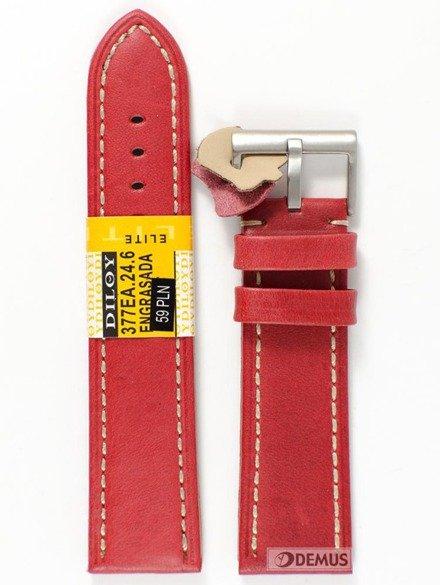 Pasek skórzany do zegarka - Diloy 377EA.24.6 - 24 mm
