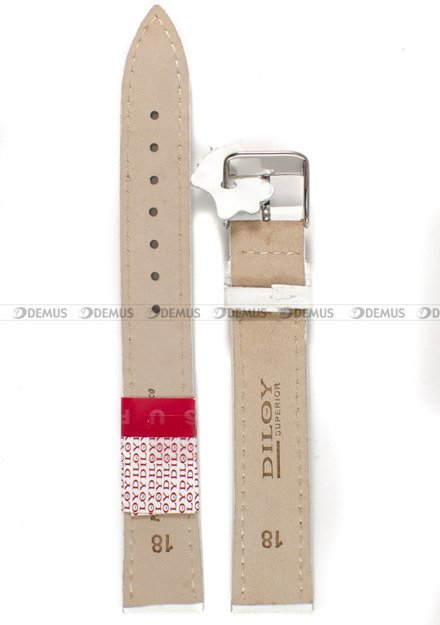 Pasek skórzany do zegarka - Diloy 379EL.18.22 - 18 mm