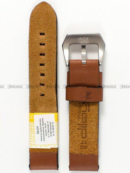 Pasek skórzany do zegarka - Diloy 383.20.8 - 20mm